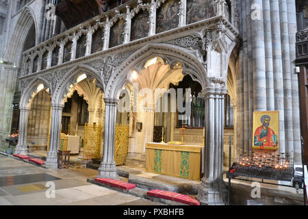Exeter Cathedral, Exeter, England, UK. - Stock Photo