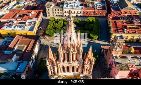 Parroquia de San Miguel Arcangel, San Miguel de Allende, Mexico - Stock Photo
