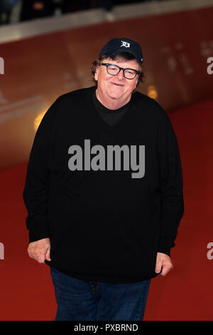 Rome, Italy. 20th Oct, 2018. Michael Moore on the red carpet for Fahrenheit 11/9 at Rome Film Fest 2018. Credit: Gennaro Leonardi / Alamy Live News - Stock Photo