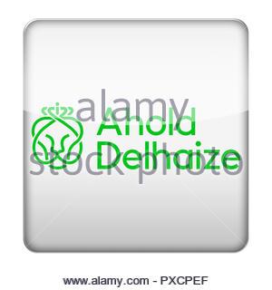 Ahold Delhaize logo - Stock Photo