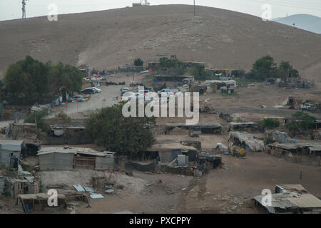 The Bedouin village of Khan al-Ahmar in the occupied West Bank. 17/10/2018 - Stock Photo