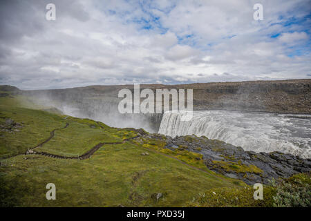 Fantastic views of selfoss waterfall in the national park vatnajokull iceland - Stock Photo