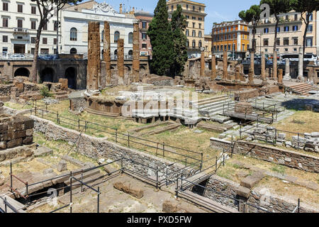 ROME, ITALY - JUNE 23, 2017: Amazing view of Largo di Torre Argentina in city of Rome, Italy - Stock Photo