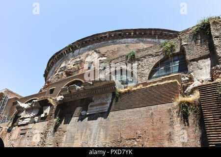 ROME, ITALY - JUNE 23, 2017: Amazing view of Pantheon in city of Rome, Italy - Stock Photo