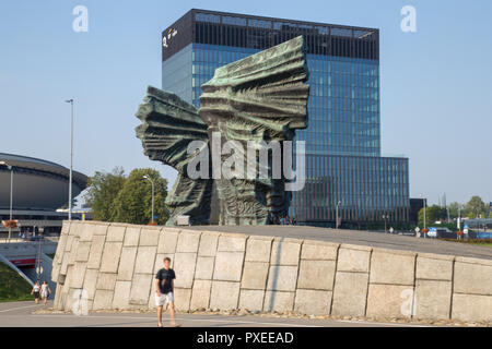 Silesian Insurgents' Monument, Pomnik Powstańców Śląskich in Katowice - a monument to those who took part in the three Silesian Uprising of 1919, 1920 - Stock Photo