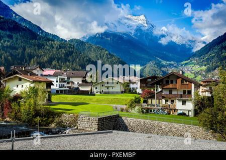 Ski resort in Mayrhofen, Austria - Stock Photo