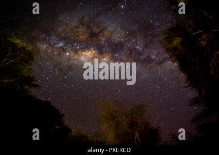 Milky Way Galaxy as seen from Lake Eyasi in Tanzania - Stock Photo