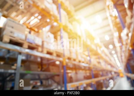 Abstract blurred industry background, warehouse, blur technique - Stock Photo