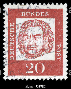 Postage stamp from the Federal Republic of Germany in the Famous Germans series issued in 1961