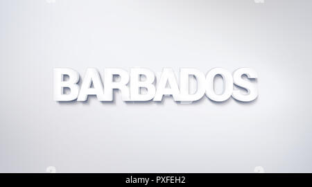 Barbados, text design. calligraphy. Typography poster. Usable as Wallpaper background - Stock Photo