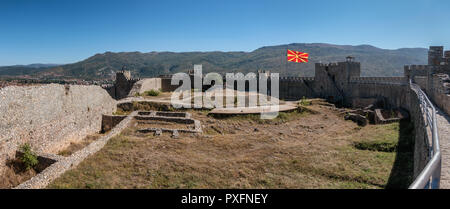 Fortress in Ohrid near the lake, Macedonia - Stock Photo