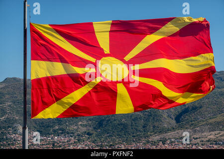 Waving flag of Macedonia - Stock Photo