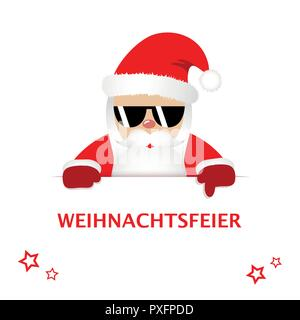 604fdc9c671 ... Hipster Santa Claus with cool sunglasses invited to christmas party  vector illustration EPS 10 - Stock