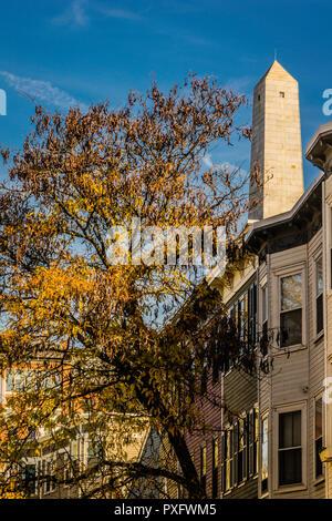 Warren Street Bunker Hill Monument   Boston, Massachusetts, USA - Stock Photo