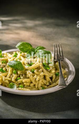 Homemade pasta trofie - Stock Photo