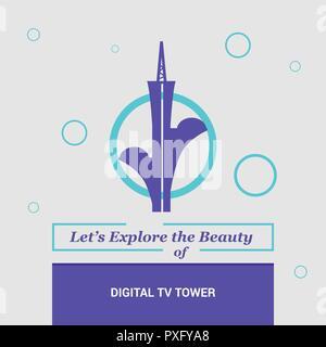Let's Explore the beauty of Digital Tv Tower Brasilia, Brazil National Landmarks - Stock Photo