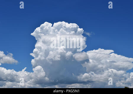 Cumulonimbus cloud formations on tropical sky , Nimbus moving , Abstract background from natural phenomenon and gray clouds hunk , Thailand - Stock Photo