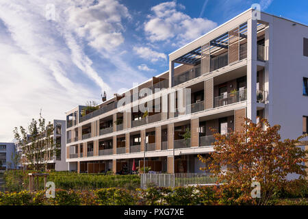 apartment building Clouth 11 in the Clouth quarter in the district Nippes, Schulte architects, Cologne, Germany.   Mehrfamilenhaus im Clouth 11 im Clo - Stock Photo