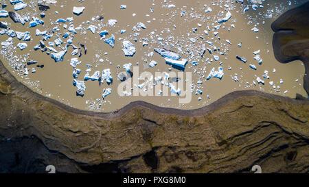 Jokulsarlon glacial lagoon,, South Iceland - Stock Photo