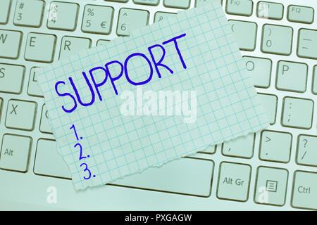Word writing text Support. Business concept for Give assistance help service Professional advice Assist someone. - Stock Photo