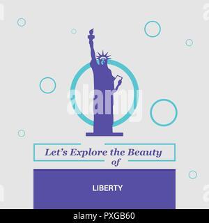Let's Explore the beauty of Liberty NewYork , USA National Landmarks - Stock Photo