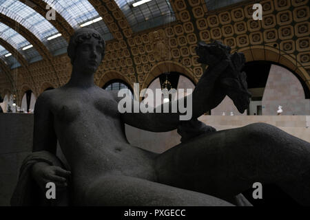 The Orsay Museum expositions in Paris, France - Stock Photo