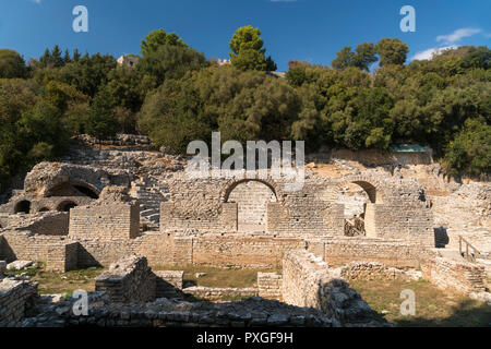 Asklepios-Heiligtum, Butrint, Albanien, Europa | Sanctuary of Asclepius in Butrint or Buthrotum, Albania, Europe - Stock Photo