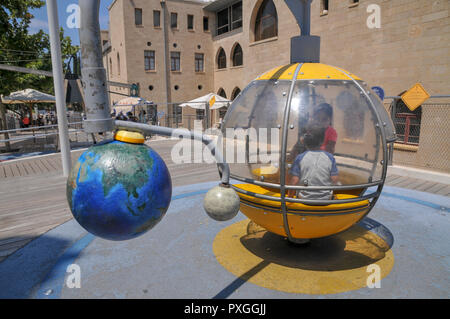 Madatech, Israeli National Museum of Science Technology and Space, Haifa, Israel Solar system exhibit - Stock Photo
