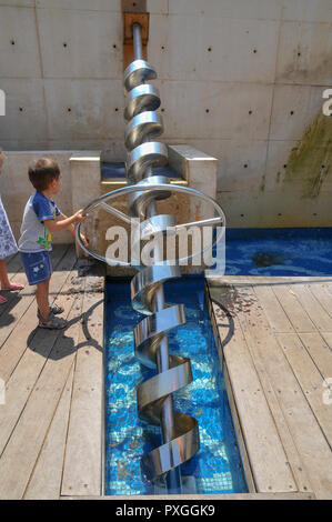 Madatech, Israeli National Museum of Science Technology and Space, Haifa, Israel Screw water pump - Stock Photo