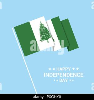 NJorfolk Island Independence day typographic design with flag vector - Stock Photo
