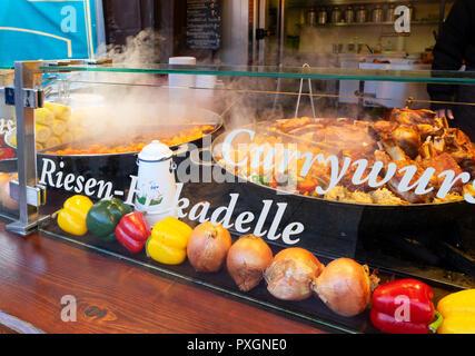 sauerkraut with sausages - Stock Photo