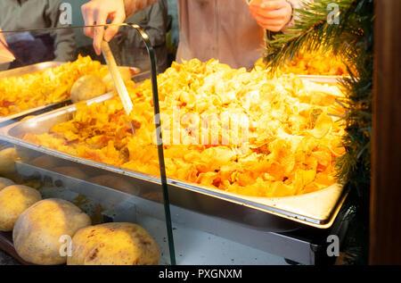 Tradiotional german fried potato - Stock Photo