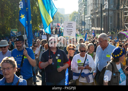 Brexit March October 2018 - Stock Photo