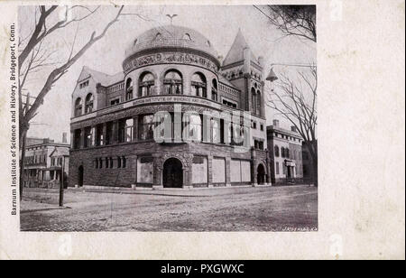 Barnum Institute of Science and History, Bridgeport, Connecticut, USA. Now a Museum celebrating the life and craeer of P. T. Barnum.     Date: circa 1908 - Stock Photo
