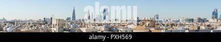 Riyadh, Saudi Arabia, KSA - November 21, 2017 buildings group from Worood district and Uroba road in Riyadh - Stock Photo