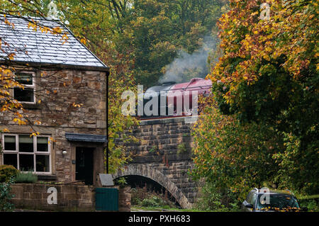 No.46233 'Duchess of Sutherland' the Midland and Scottish Railway (LMS) Princess Coronation Class 4-6-2 'Pacific' type steam locomotive built in 1938. - Stock Photo