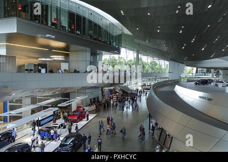 BMW-Welt, Auslieferungs- und Erlebniszentrum, München, Bayern, Deutschland, Europa, BMW World, BMW-Welt delivery and experience center, Munich, Bavari - Stock Photo