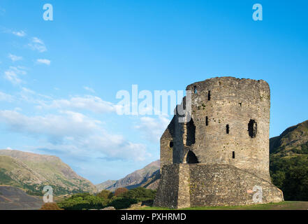 Dolbadarn Castle in Llanberis, Snowdonia National Park, North Wales - Stock Photo