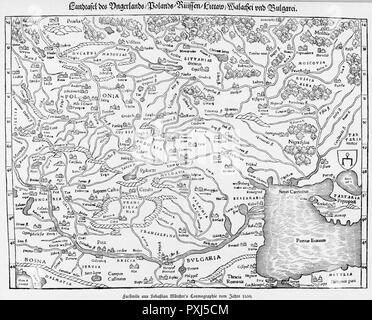 Map Of Europe 1550 Stock Photo 56685529 Alamy