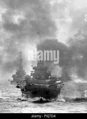 HMS Repulse, British Battlecruiser, 1916-1941 - Stock Photo