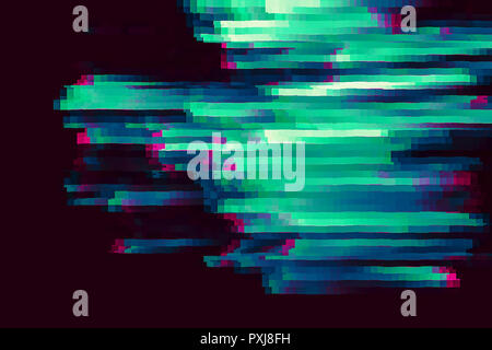 Colored noise with crazy directions of light. Modern, trendy digital abstract concept background, movement