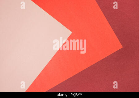 Background with three shades of pink color. Paper texture. - Stock Photo