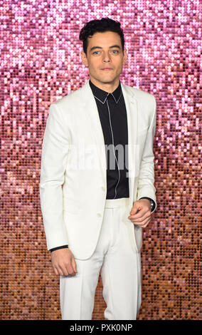 London, UK. 23rd October, 2018. London, UK. 23rd Oct 2018. Rami Malek attends the World Premiere of 'Bohemian Rhapsody' at SSE Arena Wembley on October 23, 2018 in London, England Credit: Gary Mitchell, GMP Media/Alamy Live News Credit: Gary Mitchell, GMP Media/Alamy Live News - Stock Photo
