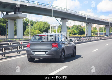 traffic in the big city in the summer - Stock Photo