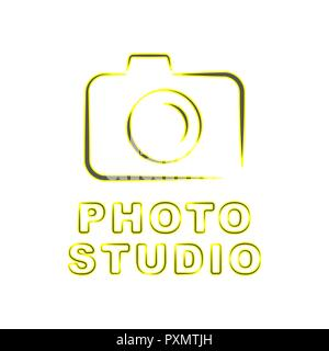 Camera icon, flat photo vector isolated. Modern simple snapshot photography sign. Instant trendy symbol for web site design, mobile app. Logo illustration. - Stock Photo