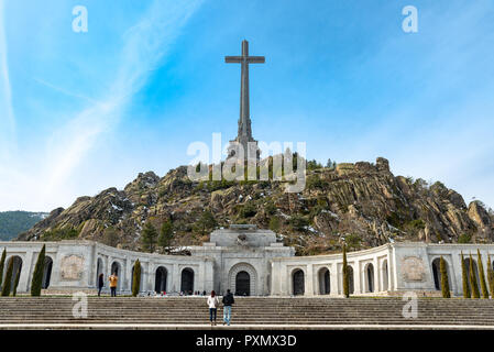 Valley of the Fallen basilica, in the Sierra de Guadarrama, near Madrid, Spain - Stock Photo
