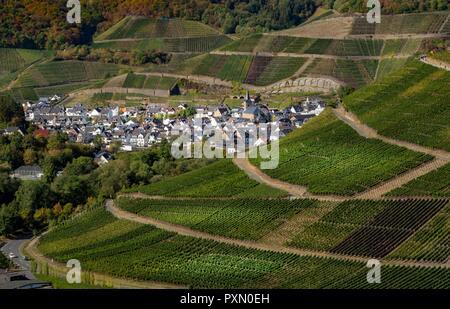 Dernau, Ahr Valley, Rhineland Palatinate, Germany 09.29.2018. Dernau is a well known wine growing village along the Ahr River in Rhineland Palatinate, - Stock Photo