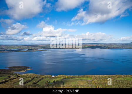 Great panoramic views on Lower Lough Erne , Co . Fermanagh, Northern Ireland - Stock Photo