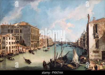 The Grand Canal from San Vio, Venice by Canaletto (Giovanni Antonio Canal - 1697-1768), oil on canvas, c.1723-4 - Stock Photo