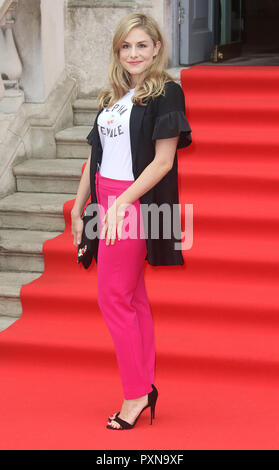Aug 09, 2018  - Alix Wilton Regan attending 'The Wife' UK Premiere opens Film4 Summer Screen at Somerset House in London, UK - Stock Photo